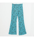 Flaired Broek 'Blue tiger' met verstelbare taille band