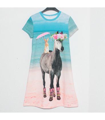 jurkje met korte mouwen 'Elfje en Paard'