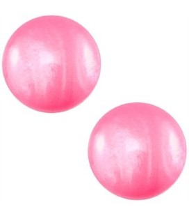 AANBIEDING! Polaris cabochon 12mm Mosso shiny Magenta pink