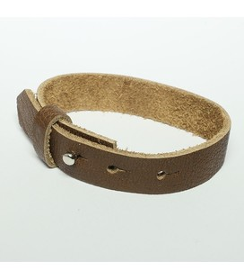 DQ cuoio armband 15mm Bruin