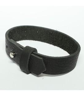 DQ cuoio armband 15mm Zwart