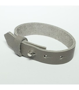 DQ cuoio armband 15mm Grijs
