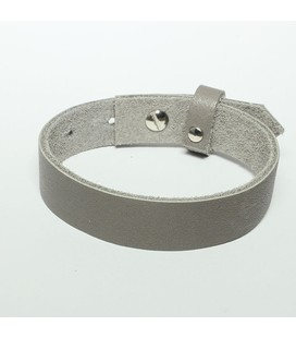 DQ cuoio armband 15mm v 20mm glas gr