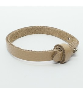 DQ cuoio armband 8mm bruin