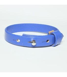 DQ slider schuif armband 10mm blauw