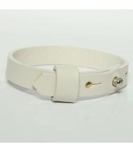 DQ slider schuif armband 10mm wit