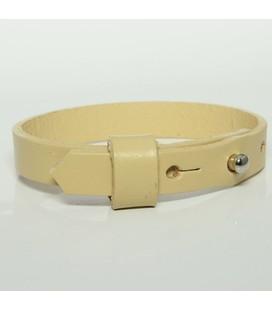 DQ slider schuif armband 10mm beige