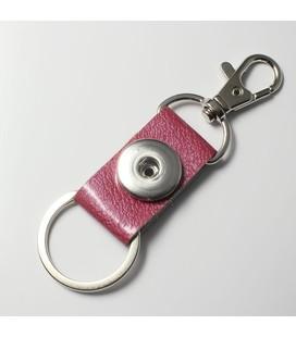 sleutelhanger 1 click roze gewerkt