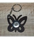 sleutelhanger voor 1 clicks vlinder bruin