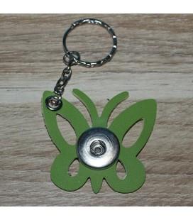 sleutelhanger voor 1 clicks vlinder groen
