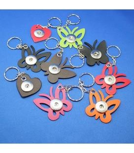 sleutelhanger voor 1 clicks vlinder paars