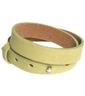 Cuoio armbanden leer 15 mm voor 20 mm cabo  dubbel Cress green
