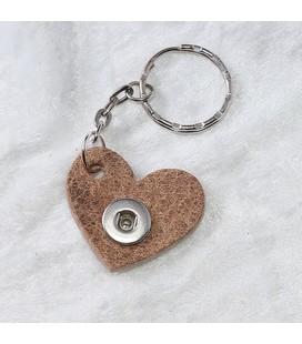 Sleutelhanger mini mini esbeco cognac hart ong. 3cm