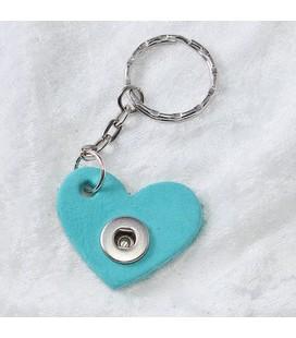 Sleutelhanger  mini hart donker turquoise hart ong. 3.5cm