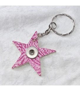 Sleutelh mini click ster douro roze  4,5cm