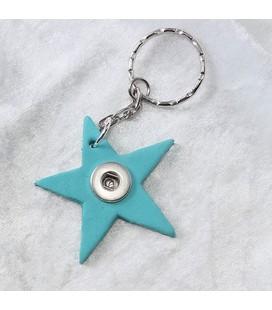 Sleutelh mini ster donker turquoise  4,5cm