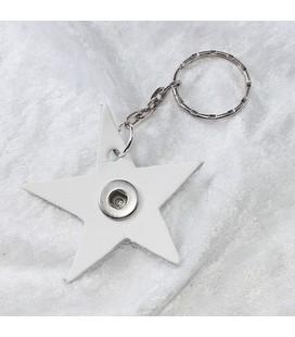 Sleutelh mini Ster wolkenwit ong 6cm