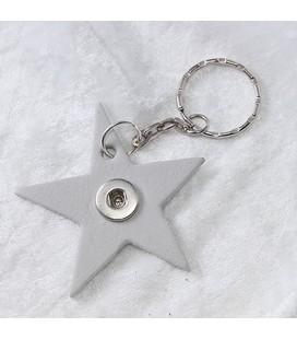 Sleutelh mini Ster lichtgrijs ong 6cm