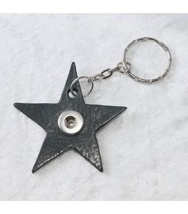 Sleutelh mini Ster zwart ong 6cm