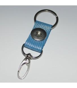 sleutel en tas  hanger blauw metalic