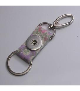 sleutel en tas  hanger bloemetjes glitter
