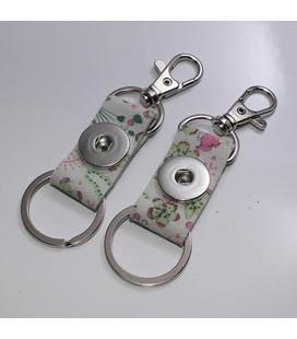 sleutel en tas  hanger pastel bloem