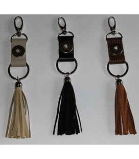 sleutel en tas  hanger zilver snake