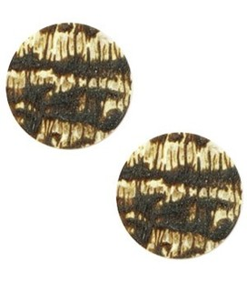 Cabochon stone look Light topaz- dark brown