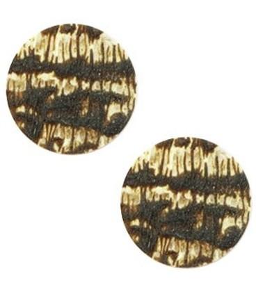 Cabochon plat 12mm matt Dark brown